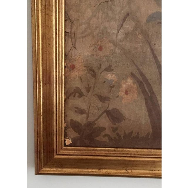 Large Decorative Painted Panel in Gilt Frame For Sale - Image 5 of 7