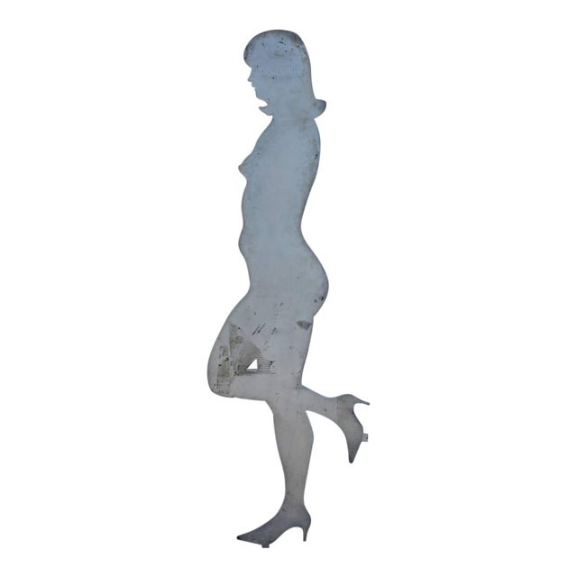 1960s Steel Cut Woman Figurine - Image 1 of 3