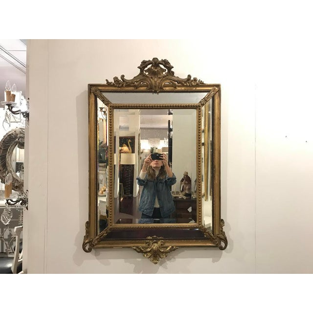 Gold Antique Régence Style Pareclose Mirror For Sale - Image 8 of 8
