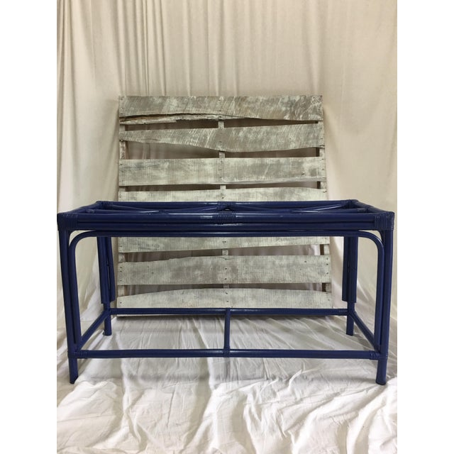 Royal Blue Tani Wood Console Table - Image 10 of 11