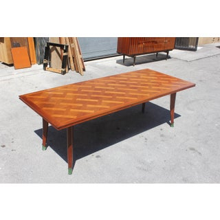Master Piece French Art Deco Dining Table Cherry Wood By Leon Jallot 1930s Preview