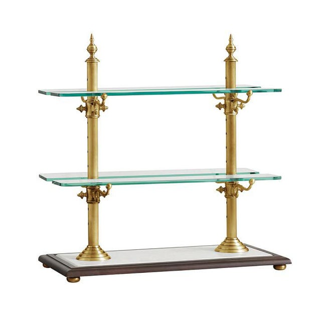 Pastry & Cake Stand Brass Frame with Marble Base - Image 2 of 2