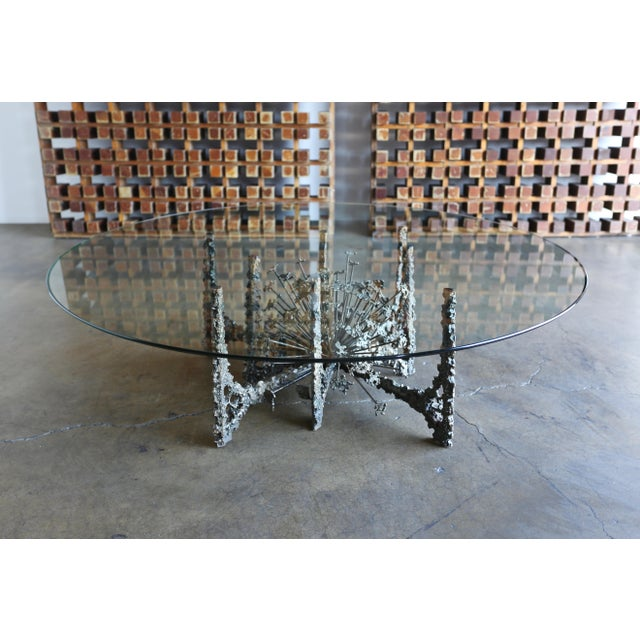 Gold Sculptural Coffee Table by Daniel Gluck For Sale - Image 8 of 10