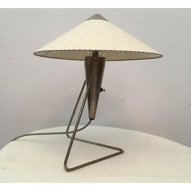 Czech Modernist Table Lamp by Helena Frantova for Okolo, 1950s For Sale - Image 11 of 11