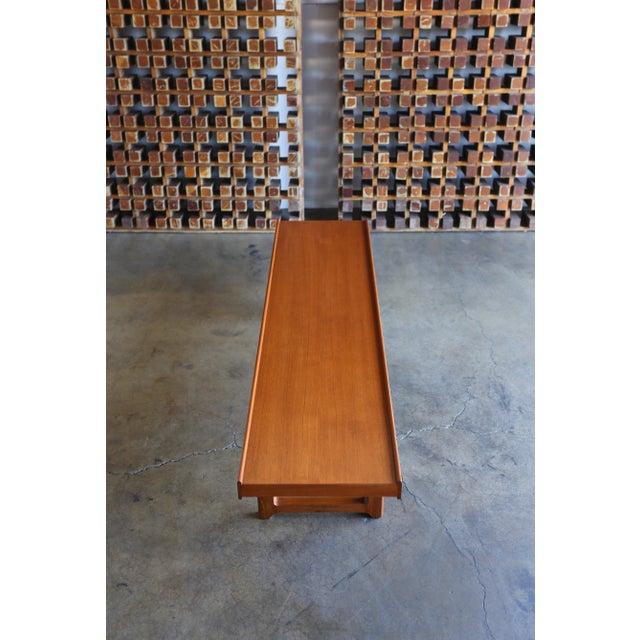 """Mid Century Torbjørn Afdal for Bruksbo Teak """"Krobo'' Bench For Sale - Image 10 of 11"""