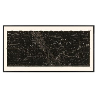 Antique Black Star Map Large Constellation Print For Sale