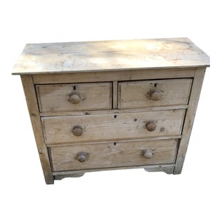 19th Century English Pine Commode For Sale