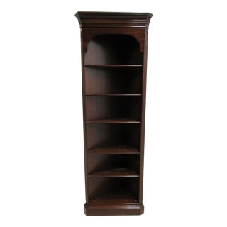 Ethan Allen Chippendale Georgian Court Corner Shelf Display Cabinet Hutch
