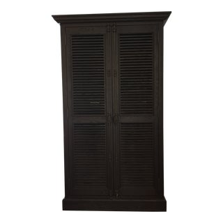 Restoration Hardware Shutter Double Door Cabinet For Sale