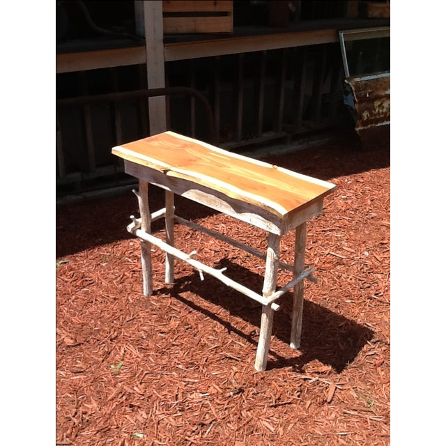 Rustic Red Cedar Table - Image 2 of 5