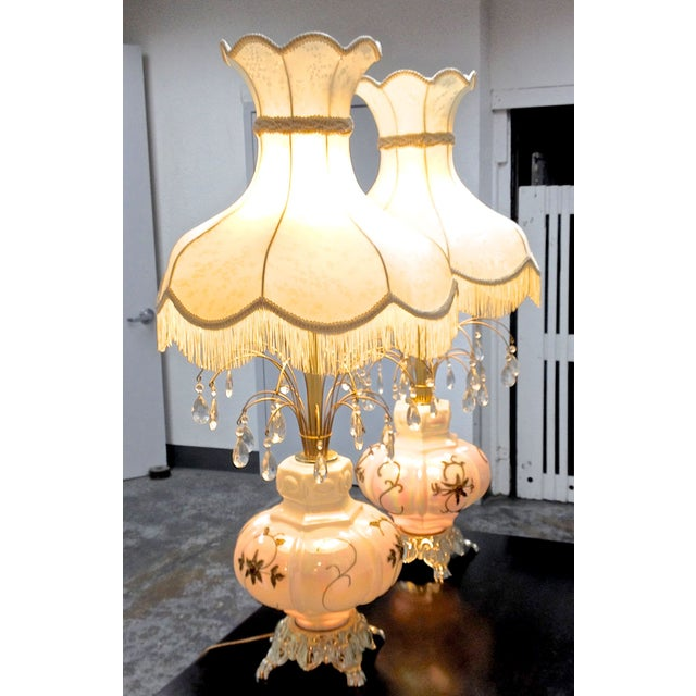 Fabulous Italian Victorian Lamps - a Pair - Image 3 of 7
