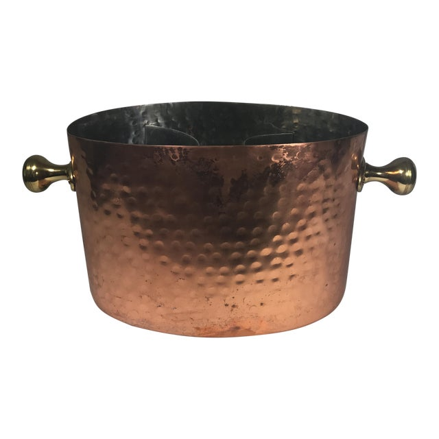 Vintage Copper Double Champagne Bucket For Sale