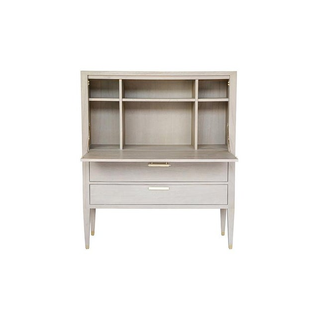 Contemporary Carlyle Secretary in Grey For Sale - Image 3 of 10
