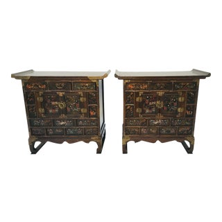 1920s Vintage Korean Diminutive Chests - a Pair For Sale