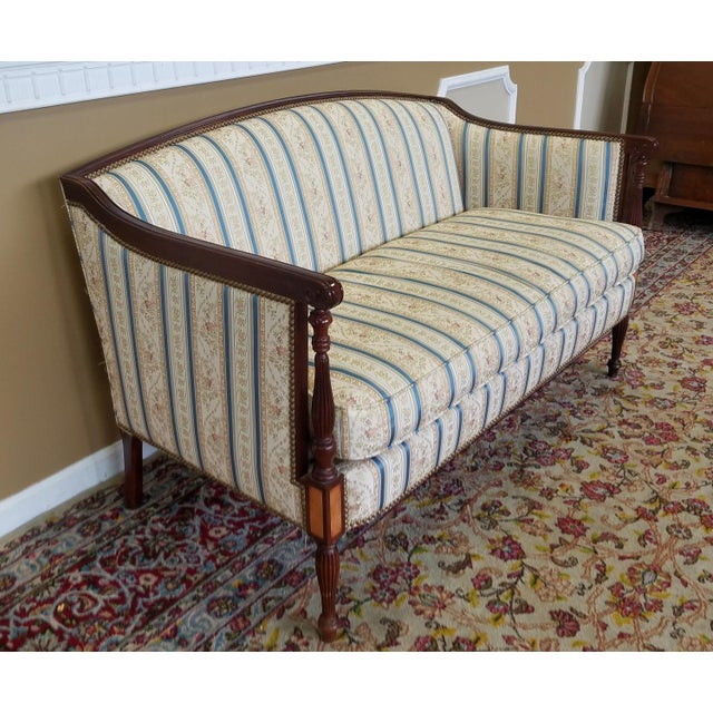 Hickory Chair Furniture Company Fantastic Hickory Chair Company James River Collection Sheraton Mahogany Loveseat For Sale - Image 4 of 9