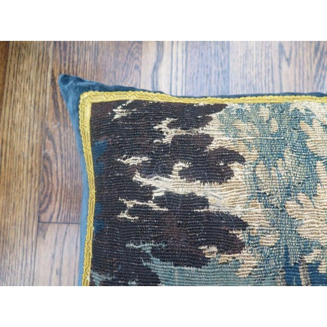18th Century Maison Maison Verdure Tapestry Pillow For Sale In Houston - Image 6 of 7