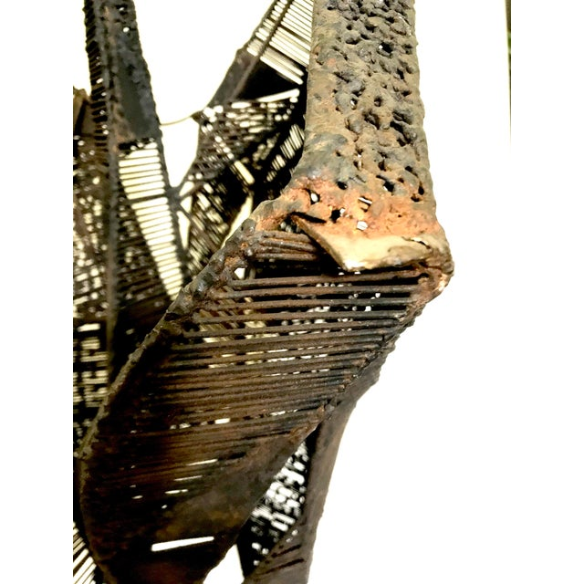 Bronze Mid-Century Brutalist Abstract Iron Sculpture For Sale - Image 8 of 13