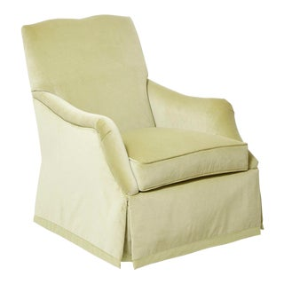 Transitional Jessica Charles Bright Green Swivel Chair For Sale