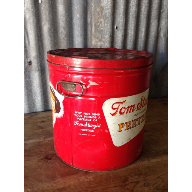 Vintage Large Tom Sturgis Pretzel Container - Image 3 of 8