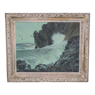 Nat Levy (California, 20th C.) Seascape C.1950s For Sale