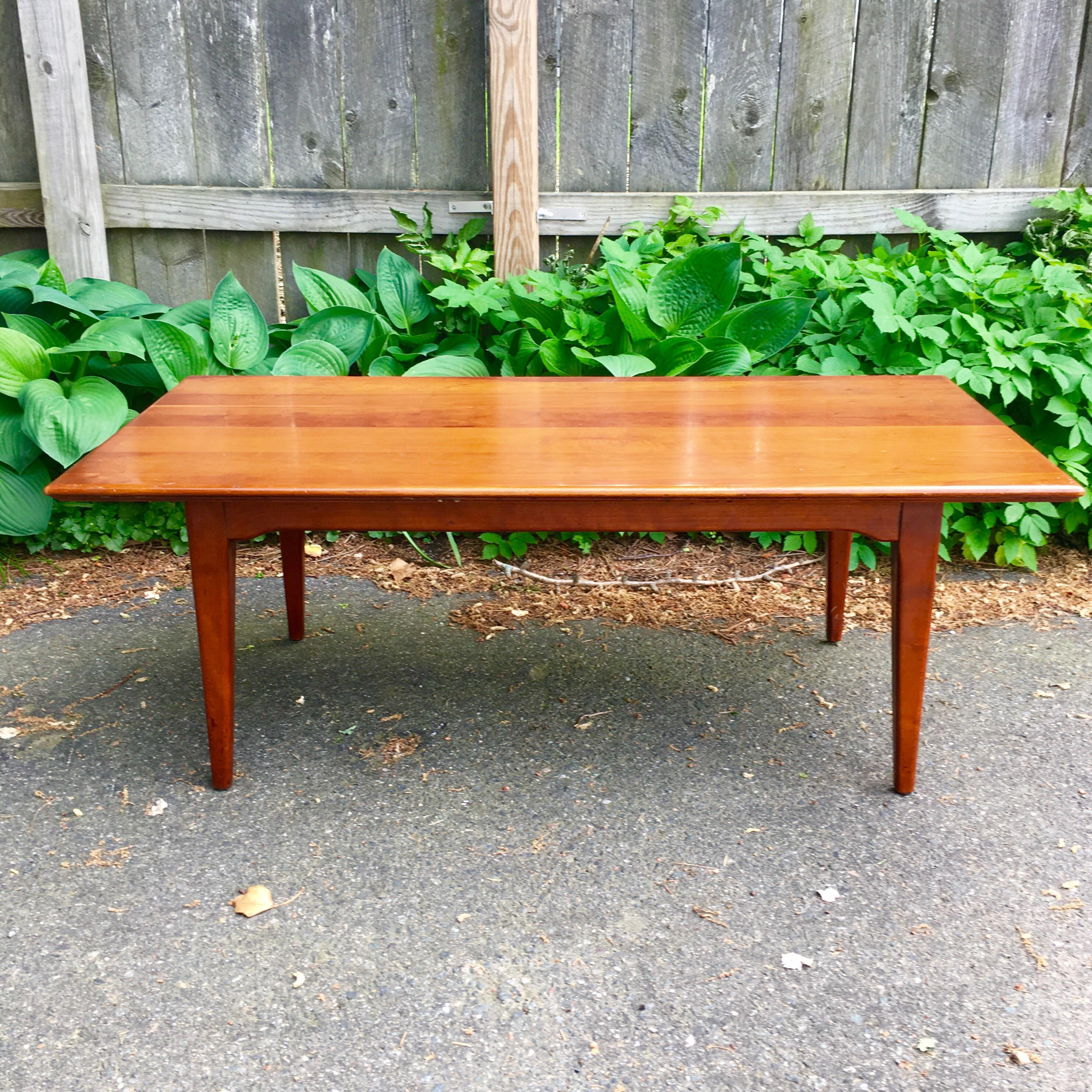 Mid Century Cherry Wood Coffee Table   Image 2 Of 10