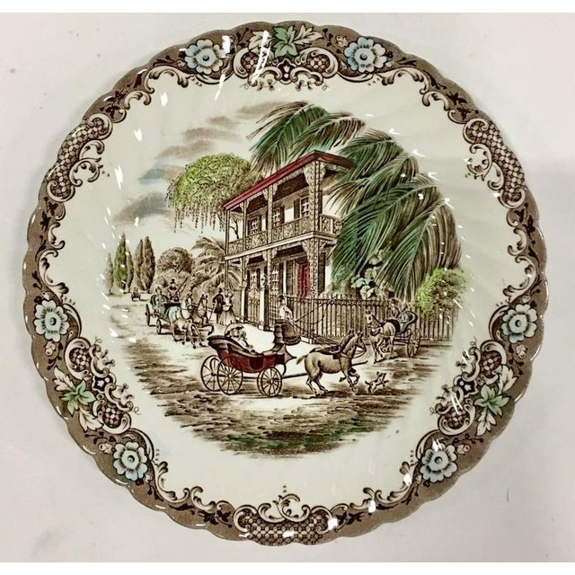 "English Ironstone ""French Provincial-Heritage Hall"" Pattern Dinnerware - Set of Nine - Image 2 of 9"