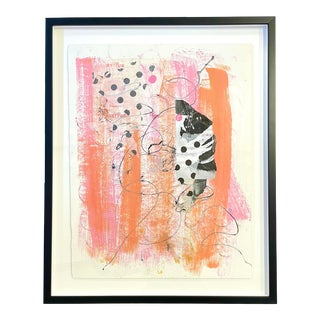 """""""To Infinty"""" Contemporary Abstract Mixed-Media Collage by Bibby Gignilluat, Framed For Sale"""