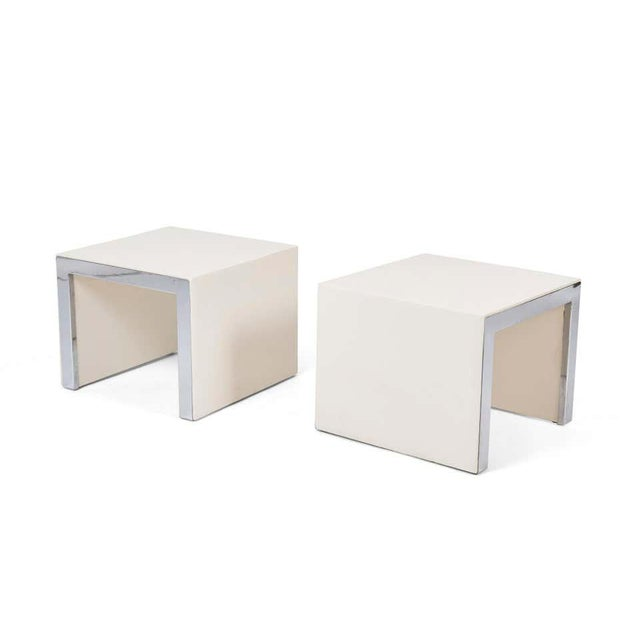 Mid-Century Modern Tommaso Barbi Side Tables - a Pair For Sale - Image 3 of 7