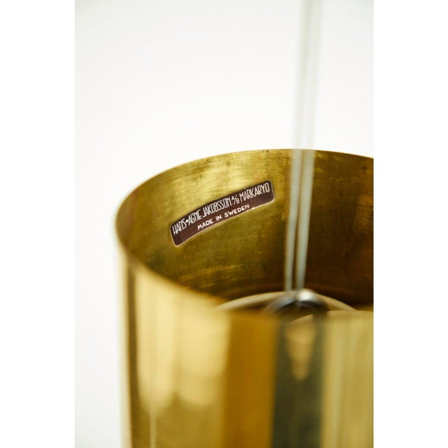 Hans-Agne Jakobsson Brass and Glass Chandelier by Hans-Agne Jakobsson For Sale - Image 4 of 5