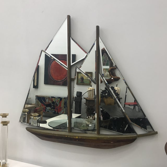 1930s Art Deco Nautical Ship Wall Mirror For Sale - Image 13 of 13