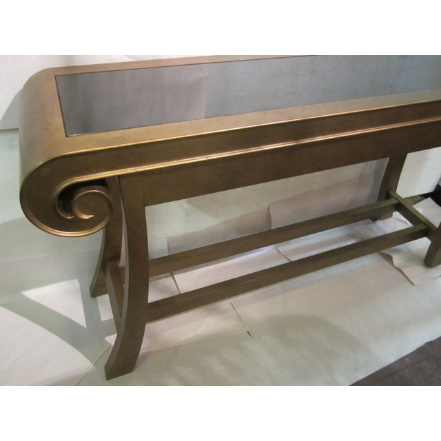 Aged Bronze Finish Console by Century Furniture - Image 4 of 8