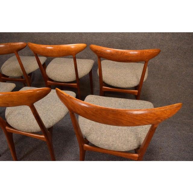 Vintage Kurt Ostervig Danish Modern Teak & Oak Dining Chairs - Set of 6 For Sale - Image 10 of 11