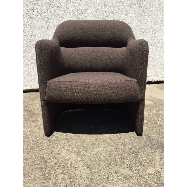 1980s Vintage Milo Baughman for Thayer Coggin Barrel Back Tub Accent Chairs- A Pair For Sale - Image 9 of 12