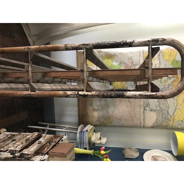 1940s Antique Industrial French Boulangerie Rack For Sale - Image 5 of 10