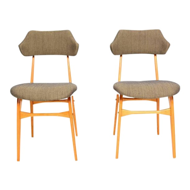 Pair of Italian Side Chairs After Carlo Mollino For Sale