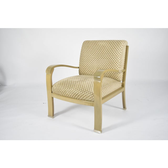 2000 - 2009 J. Robert Scott Salon Deco Lounge Chairs by Sally Sirkin Lewis- Set of 8 For Sale - Image 5 of 10