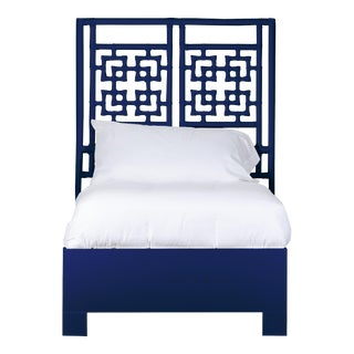 Palm Springs Bed Twin - Navy Blue For Sale
