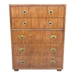 Drexel Campaign Mid Century Modern Dresser/Highboy For Sale
