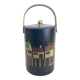 1960s Couroc Fisherman's Wharf Ice Bucket For Sale