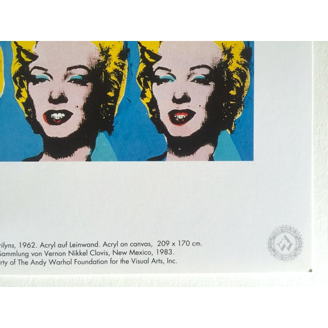 """Tiffany Blue Andy Warhol Foundation Rare 1993 Lithograph Print """"Twenty Five Marilyns"""" 1962 For Sale - Image 8 of 10"""