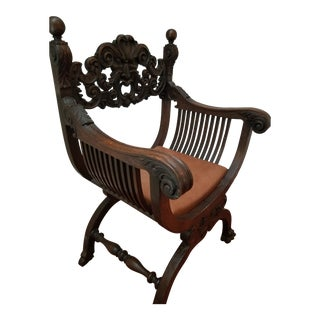 20th Century Vintage Style Claw Foot Chair For Sale