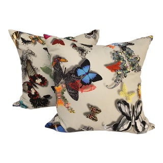 Butterfly Sateen Accent Pillows - a Pair