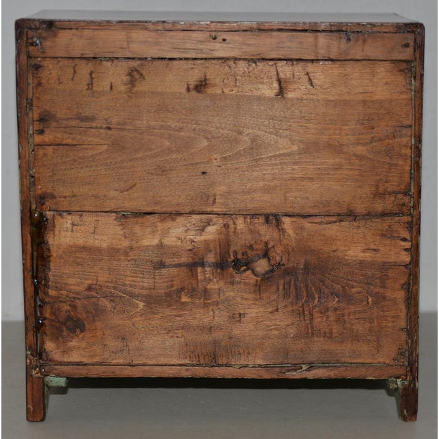 19th Century 19th Century Miniature Mahogany Salesman Sampler Chest of Drawers W/ Inlay For Sale - Image 5 of 12