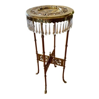Aesthetic Movement Brass Plant Stand For Sale