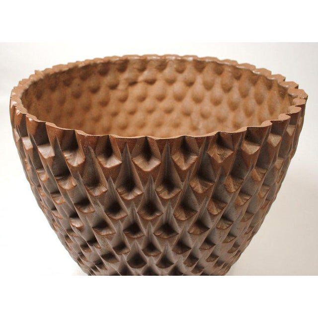 """Contemporary David Cressey Artisan Series Unglazed """"Phoenix"""" Planter Architectural Pottery For Sale - Image 3 of 9"""