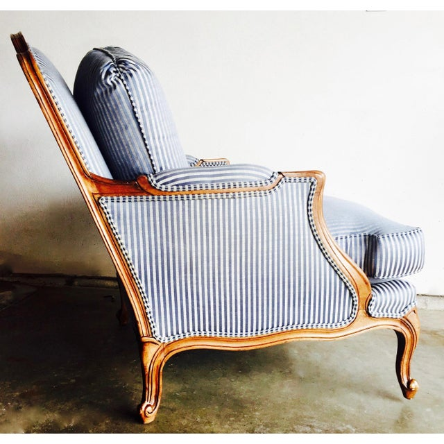 Vintage Heritage Bergere Chair & Ottoman - Image 7 of 10