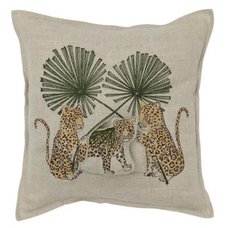 Jaguar Palm Pocket Pillow