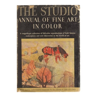 "1937 ""The Studio Annual of Fine Art In Color"" Coffee Table Book For Sale"