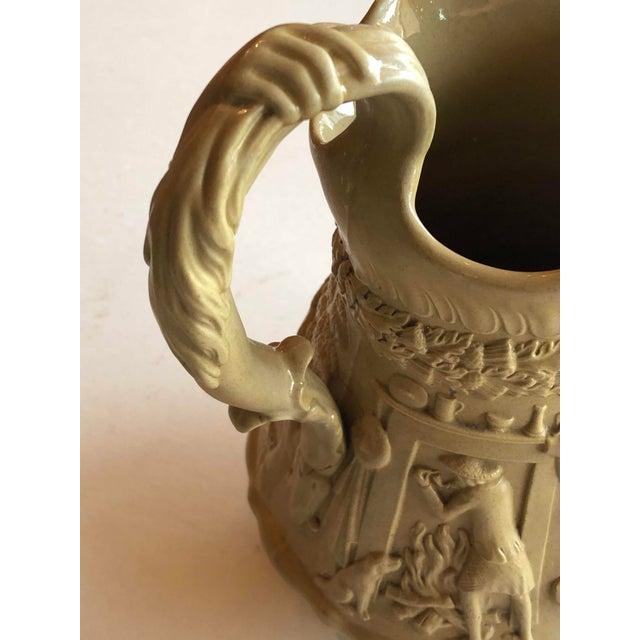 Ceramic Antique Ridgway Drabware Jug For Sale - Image 7 of 12
