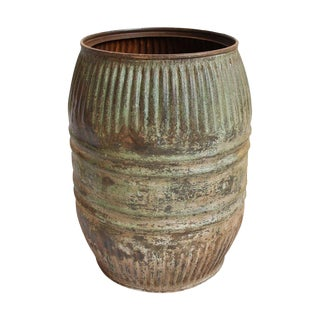 Iron Barrel Container Planter For Sale